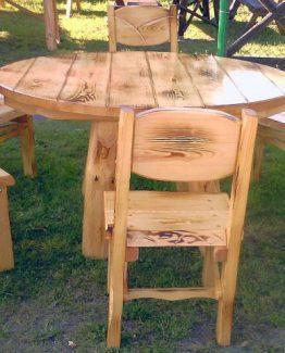 Malowany zestaw stół z krzesłami