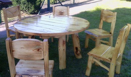 Stół, 6 krzeseł