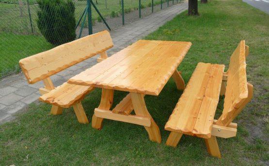 Meble Natura jasne - ławy i stół